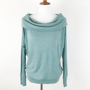 Bordeaux Sweater Draped Cowl Neck Medium Dolman
